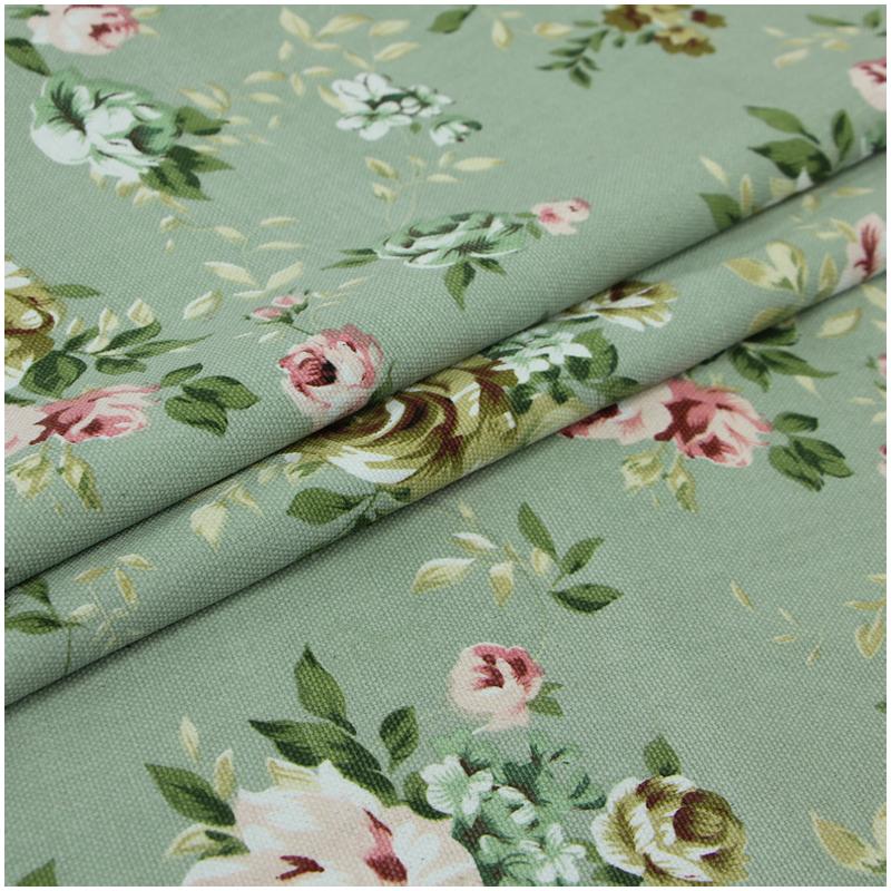 hot sale 18color cotton canvas fabric print flower stripe material textile for sofa curtain. Black Bedroom Furniture Sets. Home Design Ideas