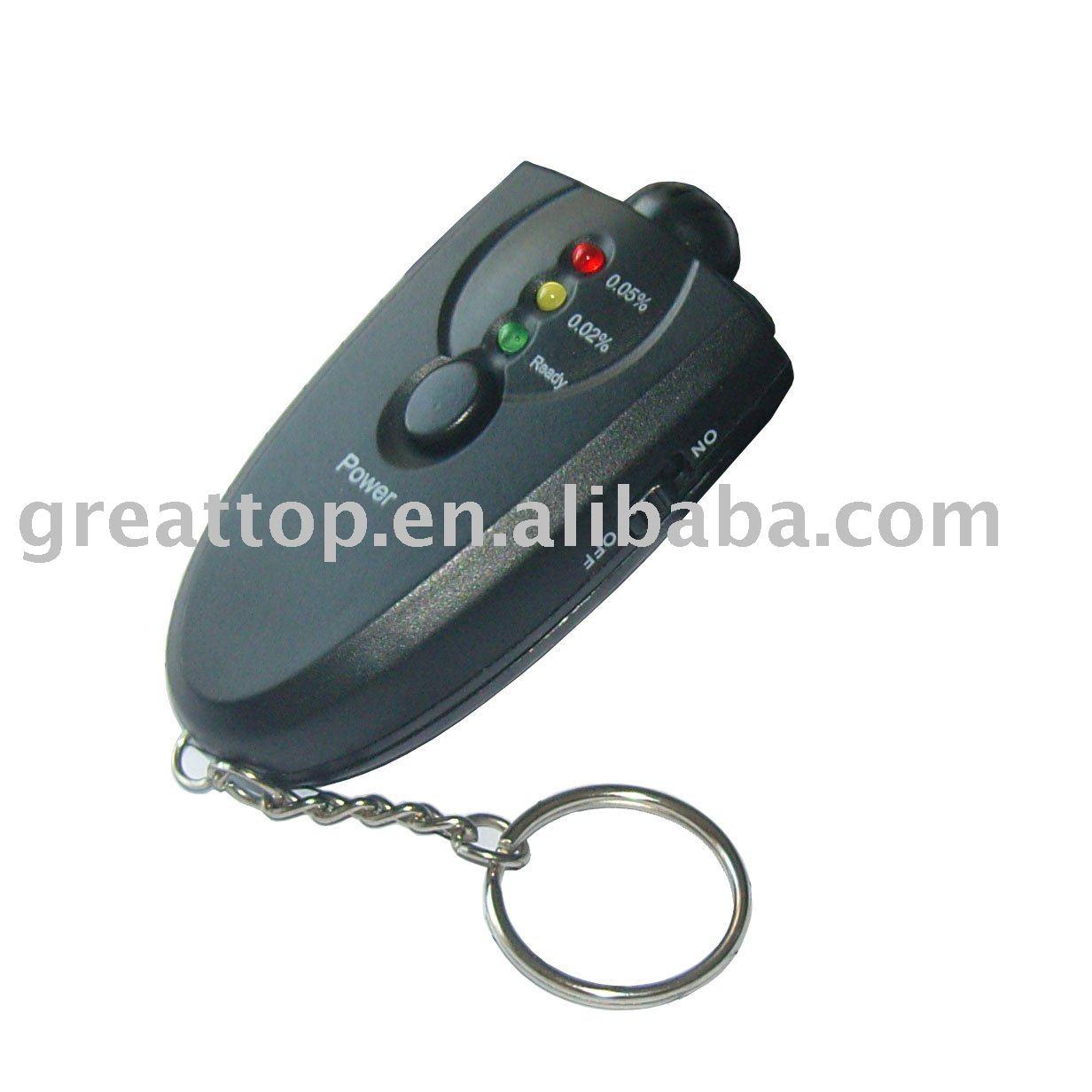 10pc/set Keychain led alcohol tester (GT-ALT-01)(China (Mainland))