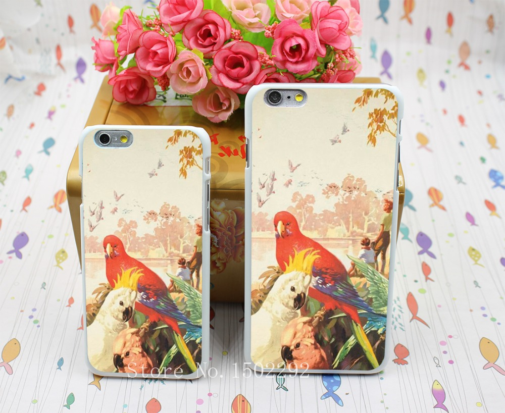 New Arrival RAINBOW PARROT AUSSIE AUSTRALIA Back Skin Case for iPhone 6 6s 6 plus Protect Cell Phone Cover(China (Mainland))
