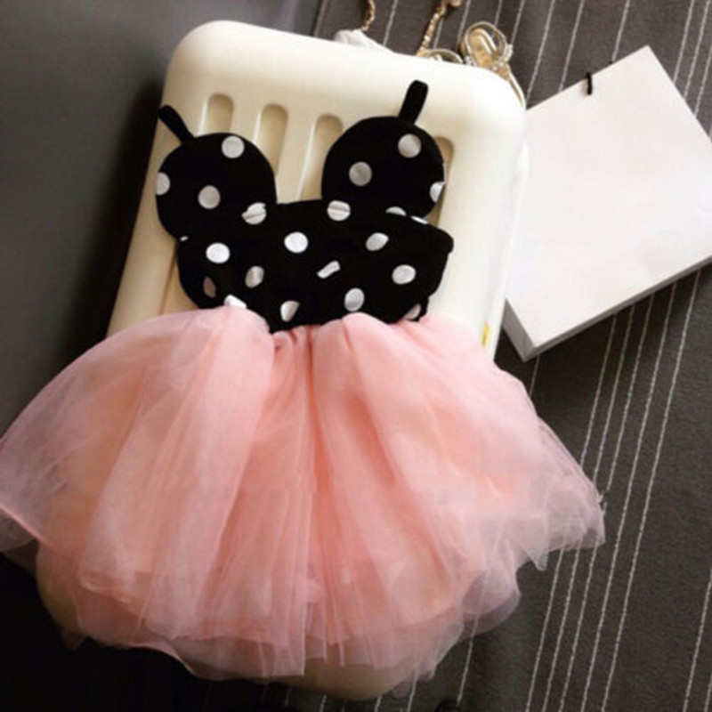 2016 New Baby Girl Dress Fashion Cute Minnie Mouse Dresses Kids Clothes Toddler Tutu Dress(China (Mainland))