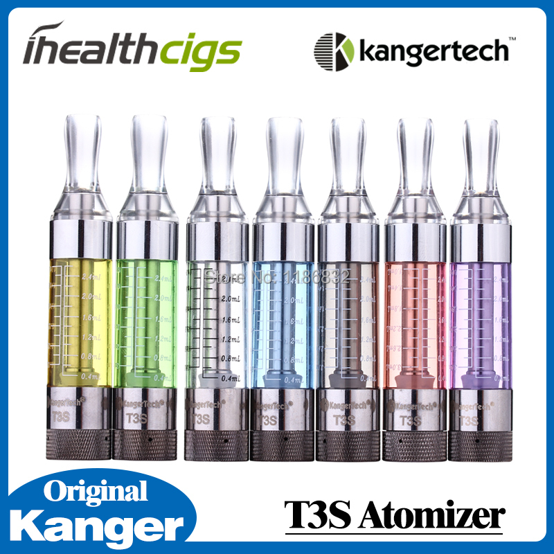100% Original Kanger T3S Atomizer 2.5ml Electronic Cigarette Changeable Bottom Coil Heating ihealthcigs 2