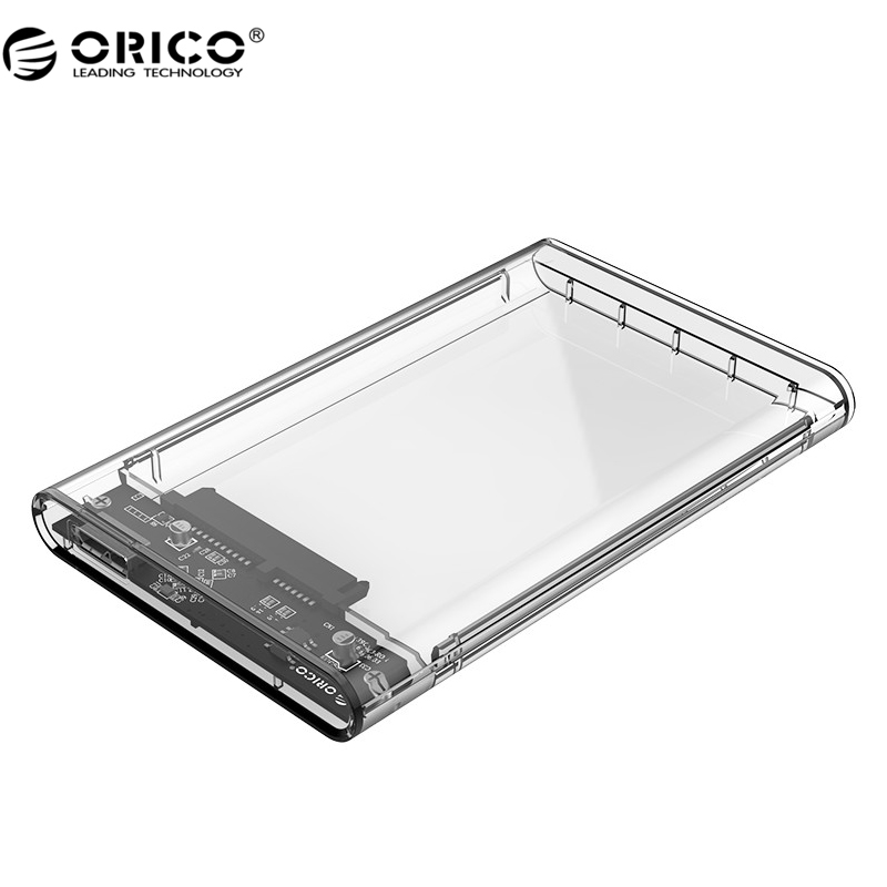 ORICO 2139U3 Hard Drive Enclosure 2.5 inch Transparent USB3.0 Hard Drive Enclosure Support UASP Protocol(China (Mainland))