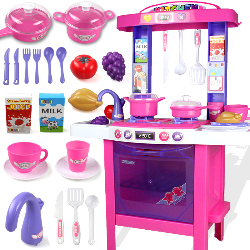 Child toy baby kitchen toys set artificial tableware for Kitchen set cake