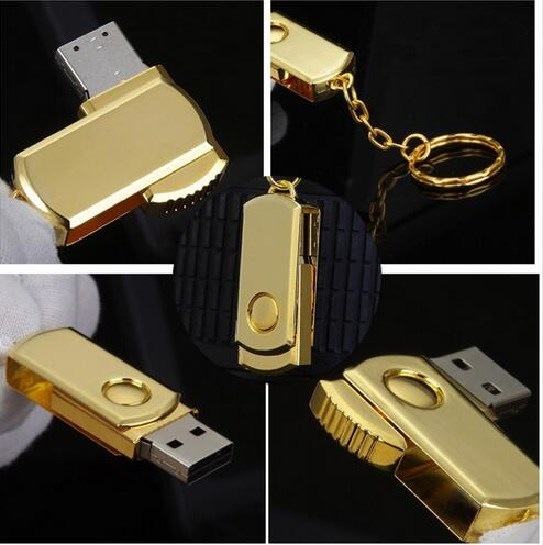 HOT USB Flash Drive 8/16/32/64/128GB Pen Drive Keychain Memory Stick Metal Pendrive Classic Design Storage Unit Free shipping!(China (Mainland))