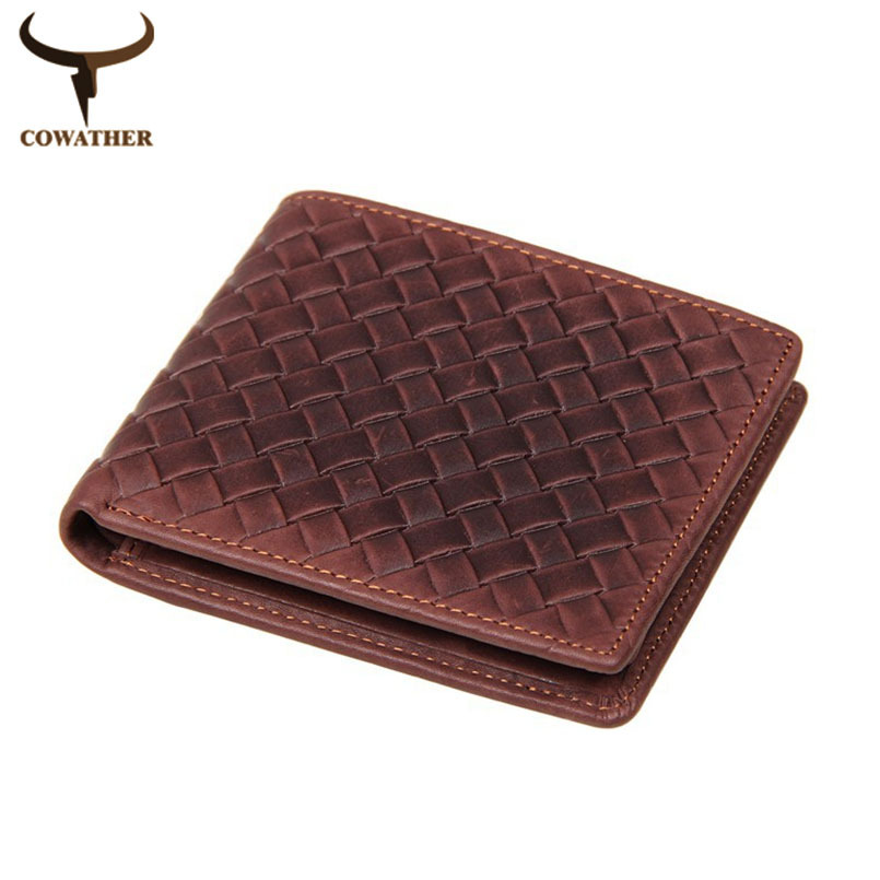 top quality cow weave genuine luxury leather men wallets for men,dollar price male vintage,carteira masculina free shipping<br><br>Aliexpress
