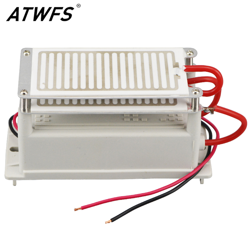 ATWFS 10g Ozone Generator 220V Double Integrated Long Life Ozone Ceramic Plate Ozonizer Air Cleaner Odor Remover Sterilizer(China (Mainland))