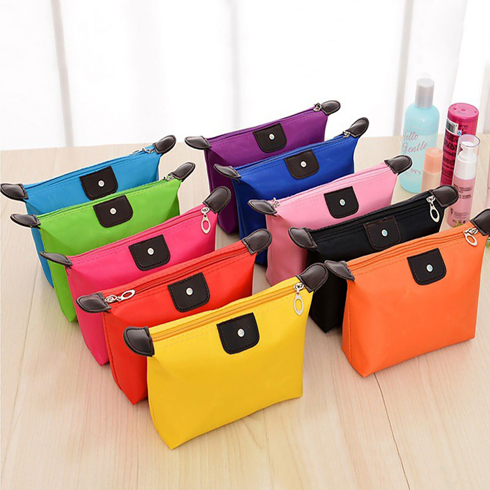 New Women Makeup Case Pouch Cosmetic Bag Toiletries Travel Jewelry Organizer Clutch Bags 9 Colors(China (Mainland))