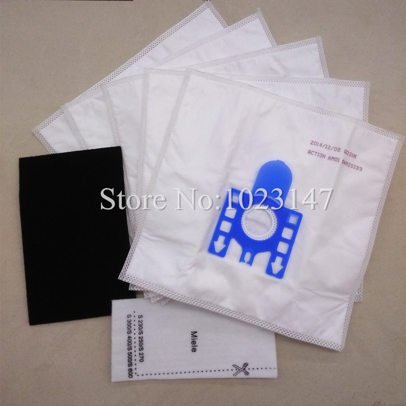 5x Vacuum Cleaner Microfleece Dust Bags and 2x HEPA filter Replacement for GN C1 S2110 S381 S4212 S8 HyClean(China (Mainland))