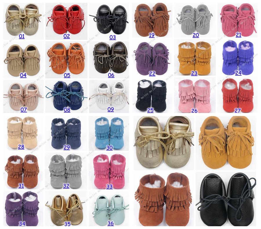 2016 couro de vaca bebê mocassins borlas botas de inicialização moccs infantil menina menino sapatos de couro rendas botas prewalker toddlers sapatos(China (Mainland))