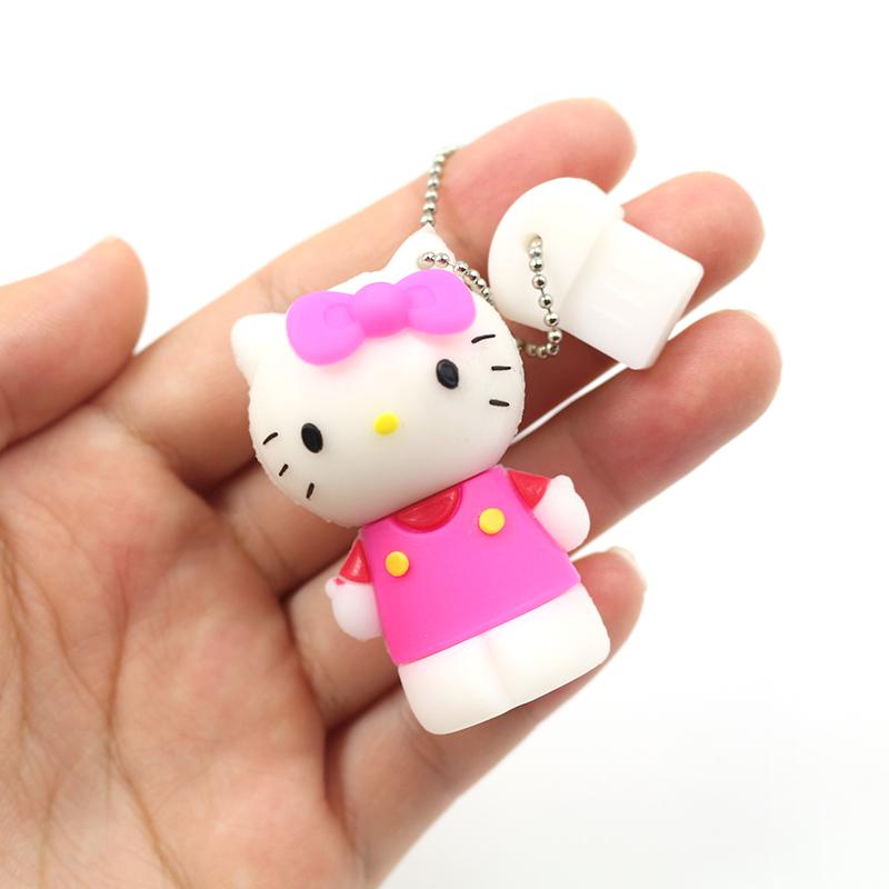 hello kitty cute cartoon usb flash drive 32GB real capacity U stick 64GB flash memory disk pendrive 4GB 8GB 16GB pen drive(China (Mainland))