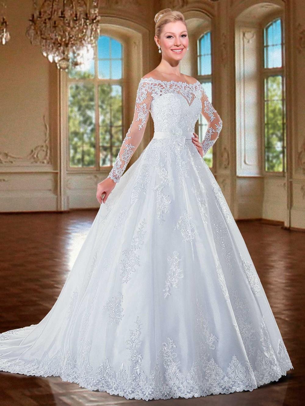 Aliexpress Com Buy Vestido De Noiva 2016 Long Sleeve