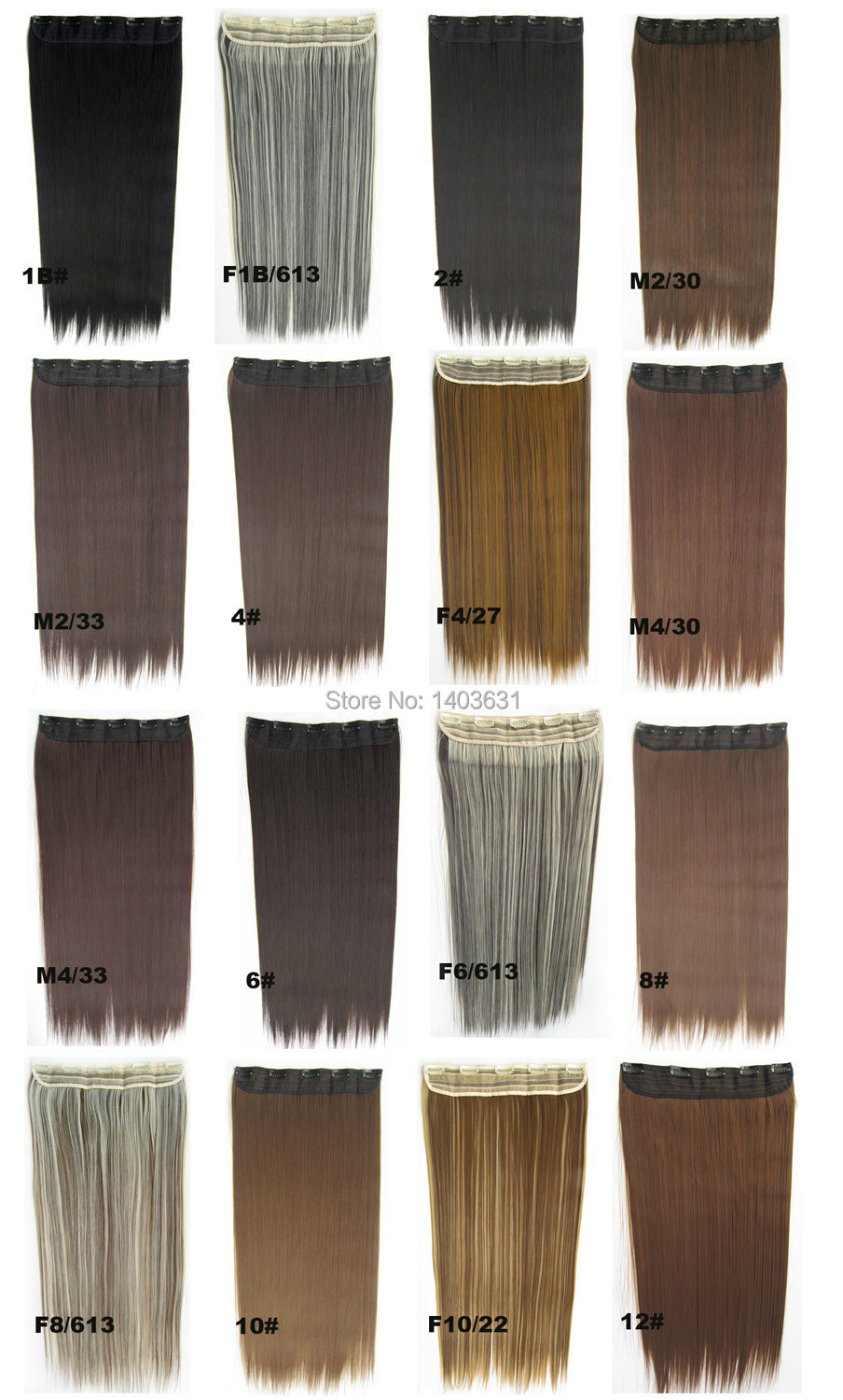 Expression Hair Fibre Silk Fibre Clip in Hair