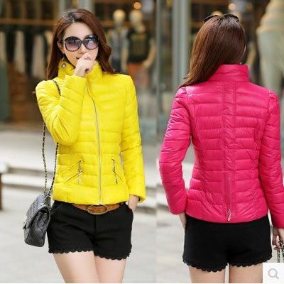 Women Cotton-padded Jacket 2014 Casual Winter Short Down Coat Plus Size Jacket Female Slim ladies Jackets Zipper Outerwear 0302(China (Mainland))