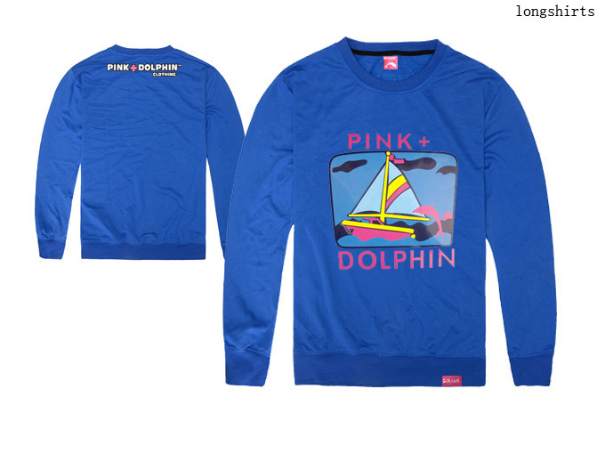 Men's Pink dolphin t shirts Printing Clothing cotton fashion hip hop full tshirt Top Brand tee o-neck long t-shirt Free shipping(China (Mainland))