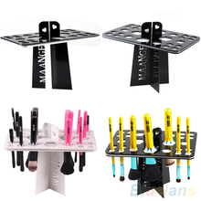 2016 HotPortable Folding Collapsible Air Drying Makeup Brush Acrylic Rack Holder 2UGV 7D74 8LQ1
