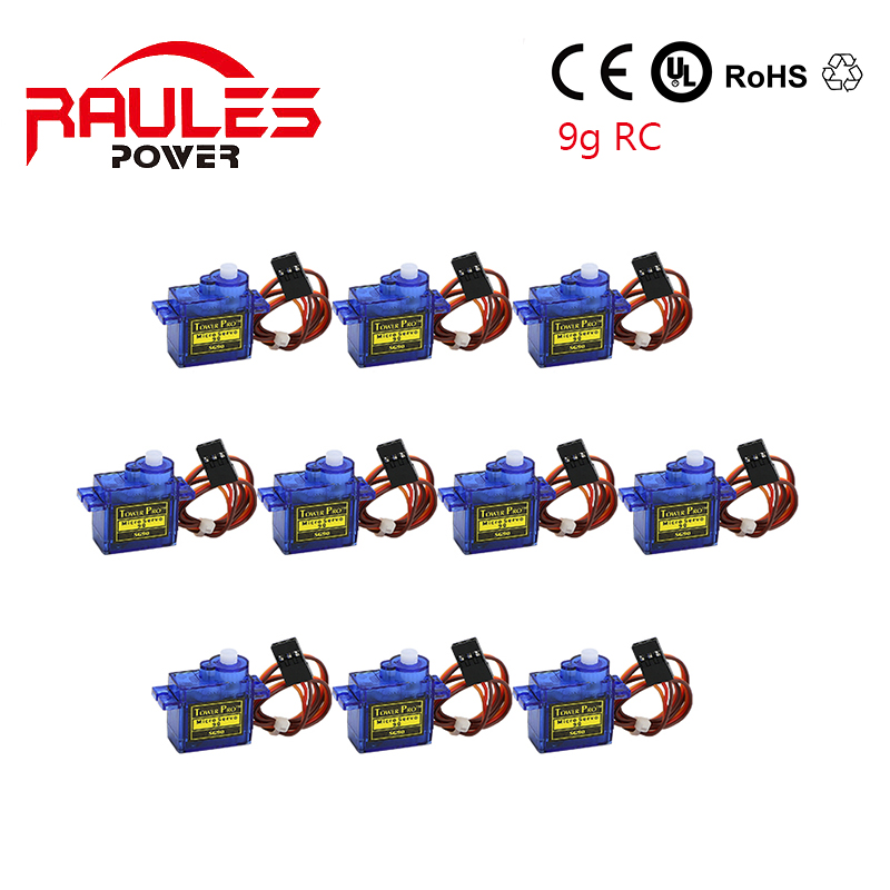 10 parts / los Tower Pro SG90 Micro Servo 9g torque for aeromodelling Trex 450 RC Planes parts(China (Mainland))