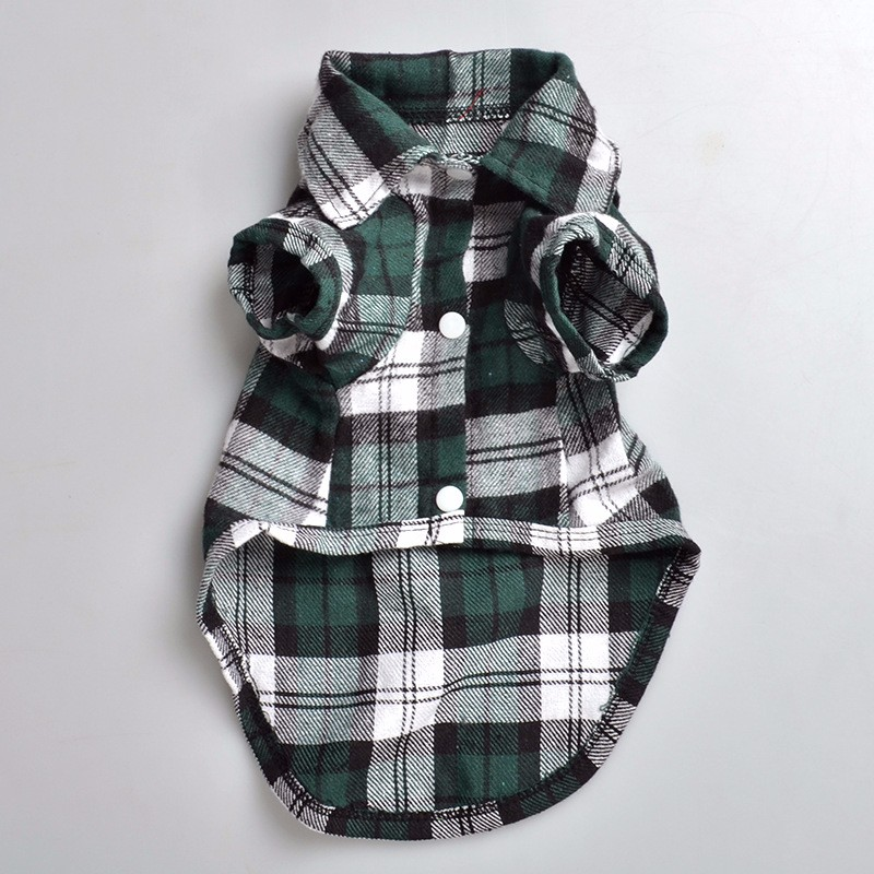 Plaids Grid Shirt Lapel Costume Dog Clothes Festival T-shirt Autumn Spring Clothing For Pet Dogs Cat Hot Sale Cheaper DC70(China (Mainland))