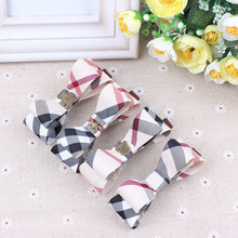 Buy High Hair Clips Plaid Fabric Bowknot Hair Accessories Korean Style Fashion Barrettes Women Girls BB Clips Headwear for $1.45 in AliExpress store