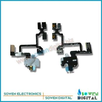 For iphone 4G original headphone jack audio jack flex cable +UPS DHL FREE shipping+best quality+wholesaler or retail