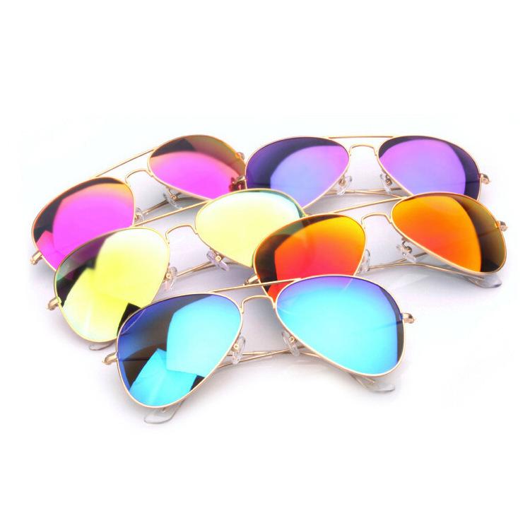 Aviators Women Men Ray 3025 Original Brand Designer Oculos Frog Mirror Eye glasses Retro Summer Sunglasses Gafas de sol LOGO(China (Mainland))