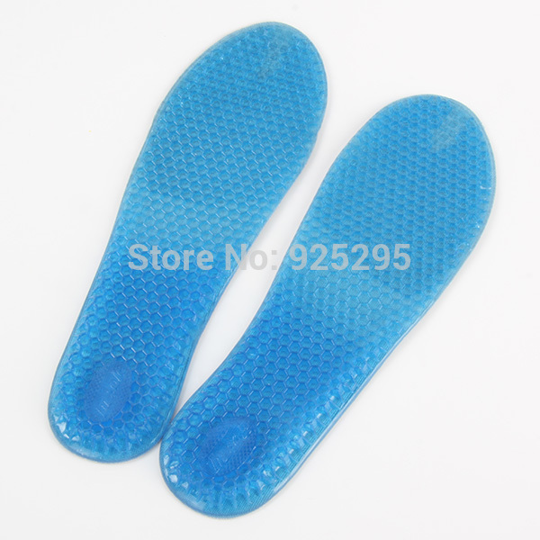 Increased Gel Massaging Shoe Insoles Arch Support Cushion Running Pads For Women(China (Mainland))