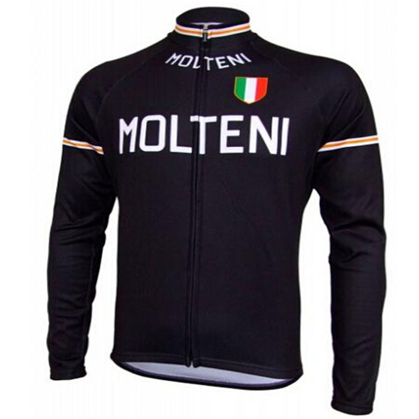 Molteni Ropa ciclismo hombre invierno winter thermal fleece long cycling jersey maillot 2016 mtb clothing #85
