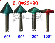 CNC Wood Engraving 3D Bits Router 150 Degree 6mm x 22mm V Groove Acrylic(China (Mainland))