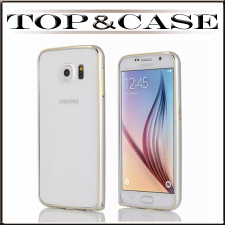 Ultrathin Aviation No Screws Metal Frame Cover G9200 Cell Phone Cases Luxury Aluminum Bumper For Samsung Galaxy S6 Case SJ1016(China (Mainland))