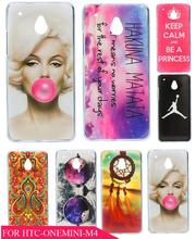 Design Cool New Charming Bubble Beautiful Woman Stylish Skin Hard Plastic Mobile Phone Cover Case for HTC One Mini M4 601E