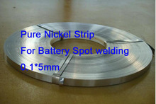 0.1*5mm Pure  Nickel Strip for battery spot welding Electrical Contacts Material   1KG(China (Mainland))