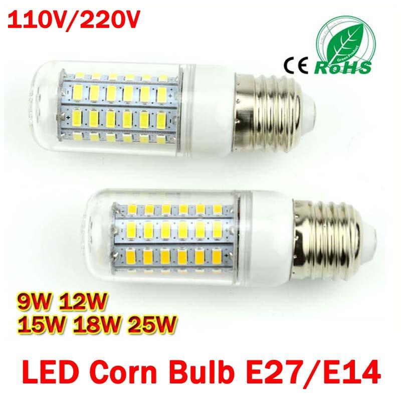 LED Bulb E27 E14 5730 LED corn bulb lamp LED Bulb Bubble Ball LED Ceiling Spot Light 7W 12W 15W 18W 25W 220V 110V <br><br>Aliexpress