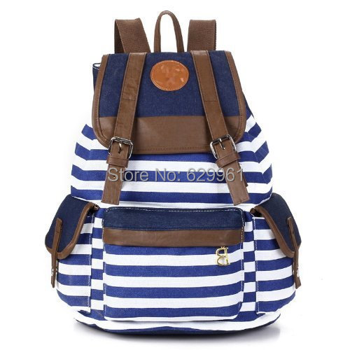2014 new Korean fashion casual canvas bag bow wave female backpack - ShenZhen Bestope Technology Limited store