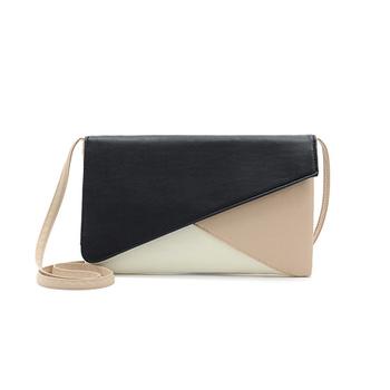 Fashion Patchwork Clutches Women Handbag   PU Leather Shoulder Bag Envelope Bags