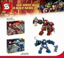 SY360 Building Blocks Super Heroes Avengers 2 Age Of Ultron MiniFigures Justice League HlukBuster Thorbuster Bricks Figures Toys(China (Mainland))