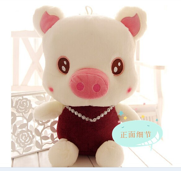 lovely cartoon plush pig toys big pig toy with purple-red cloth birthday gift pig doll about 60cm<br><br>Aliexpress