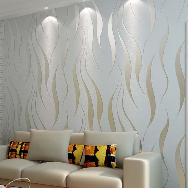 High quality modern 3d wallpaper damask textured wall for Best 3d wallpaper for bedroom