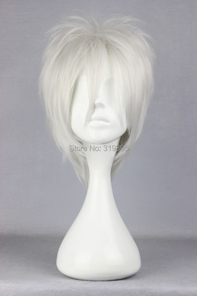 Cosplay Costume Wigs Phase ze a rainbow Nabari no Ou Shion NO.6 Anime Hair silver grey 30cm<br><br>Aliexpress