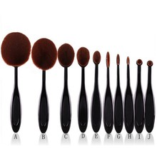 10pcs Pro Toothbrush Makeup Brush Oval Brush Set Multipurpose Makeup Brushes Set Super Nice Toothbrush Makeup Brush(China (Mainland))
