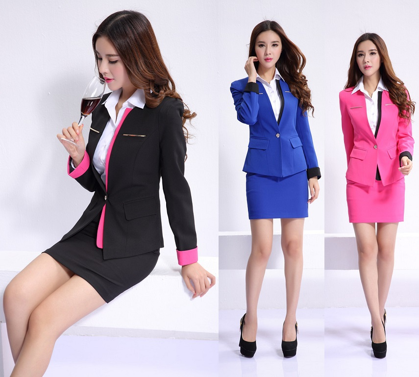 Popular office uniform designs women buy cheap office for Office uniform design 2015