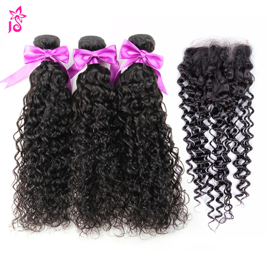 8a Brazilian Afro Kinky Human Hair With Closure Mink Kinky Curly Jerry Curl Virgin Hair With Lace Closure Ali Iwish Human Hair