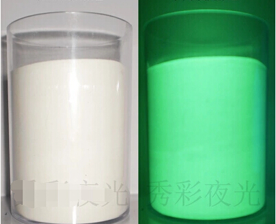 White/green color 100grams/lot Freeship super bright fluorescent powder,glow powder, glow in the dark pigment Noctilucent powder(China (Mainland))