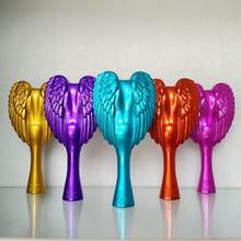 2016 New Free Shipping Pro Original 19cm 8 colors Tangle Angel Anti-static Hair Styler Tool Salon Handle Hair Comb Brush(VM-120)(China (Mainland))