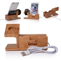 Hot Healthy For Apple Watch Charger Dock Wooden Bamboo Stand Phone Holder For iPhone 6S 5