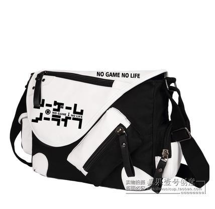 No Game No Life I Love Human Printing Cosplay Shoulder Bag School Students Canvas Messenger Crossbody Bags