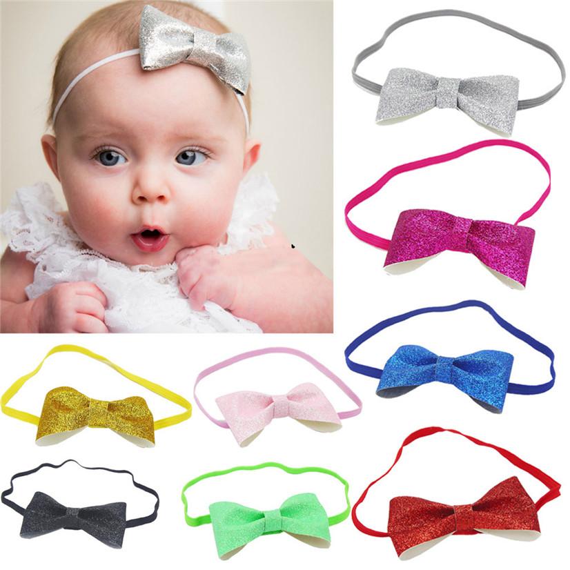 Delicate Hot! 2016 hair accessories headband Fashion Girls Baby Bowknot Elastic Bowknot Headband nor160725(China (Mainland))