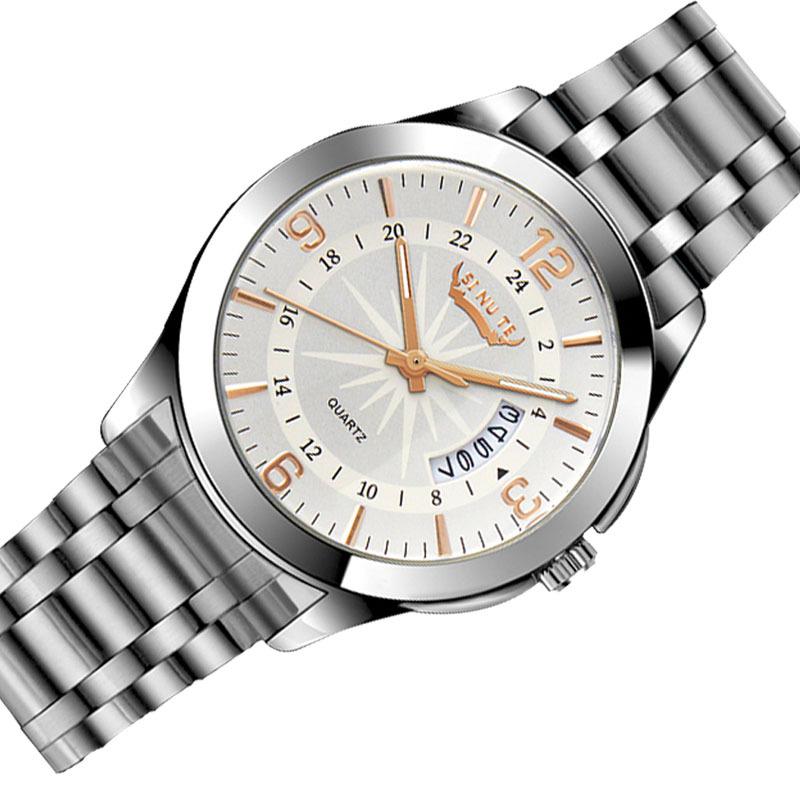 Men Business Wristwatch 2015 Luxury Brand Stainless Steel Waterproof Men's Wrist Watches Relogio Masculino Male Quartz Watch(China (Mainland))