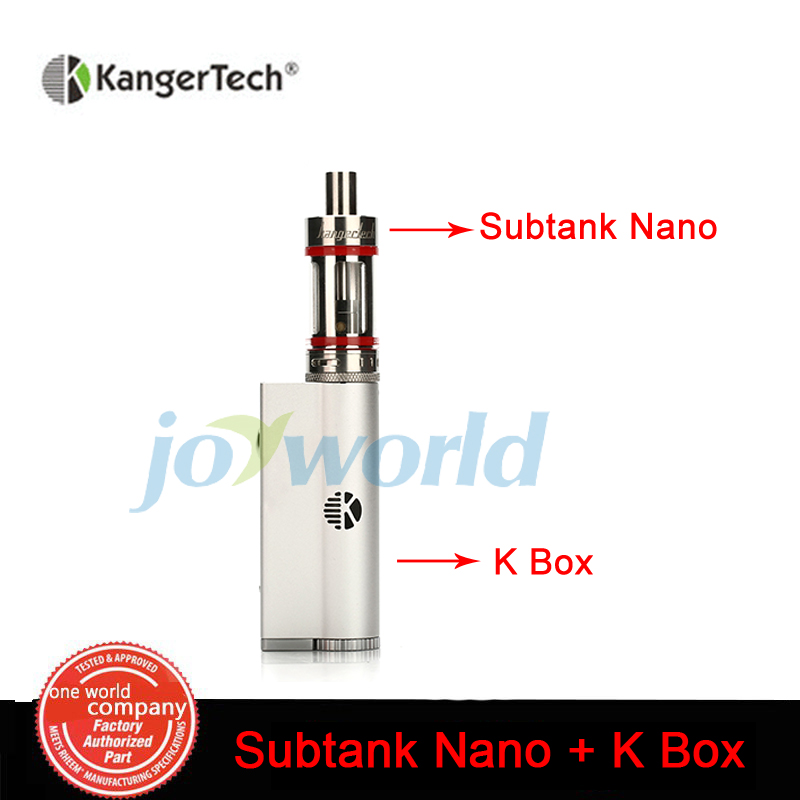 100 Original Kangertech Kbox 8 40W Box Mod with Kanger Subtank Nano Atomizer 3 0ML for