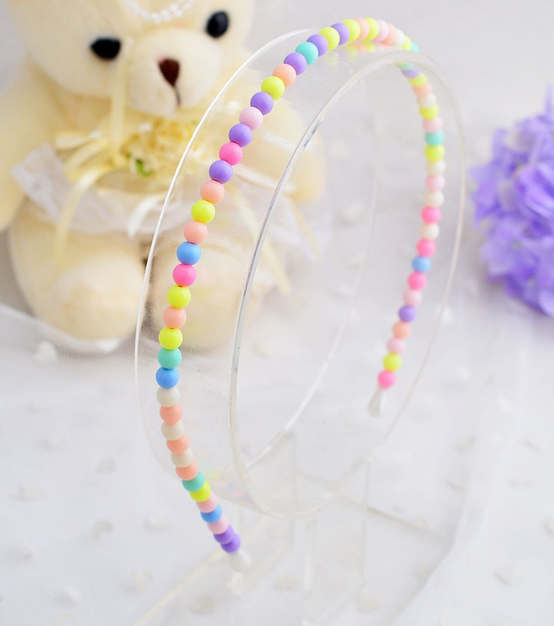 Hairpins Hair Accessories Cute Girls sweet headband Fashion Korea style candy plastic kids beads hairband