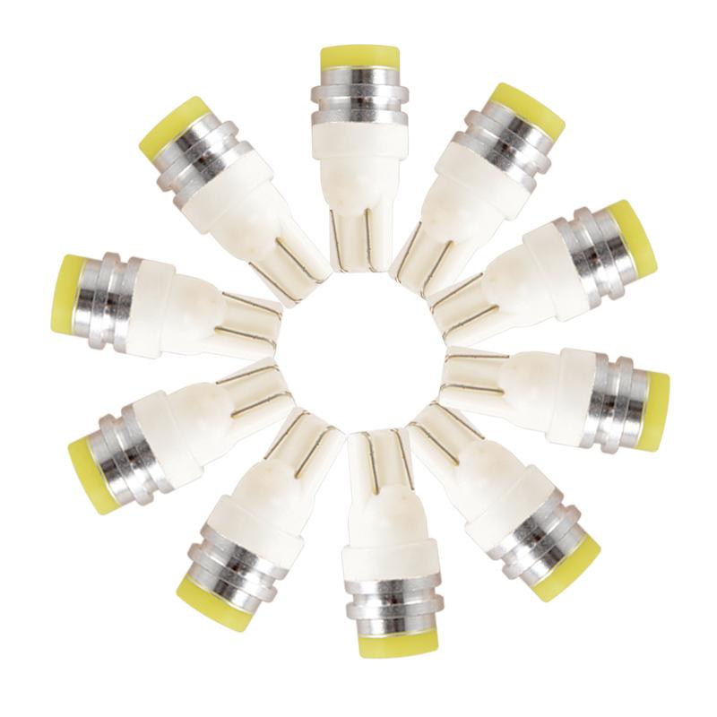 10 Pcs/Set White Color Car COB SMD LED Lights 5W Auto Trunk LED T10 Light(China (Mainland))