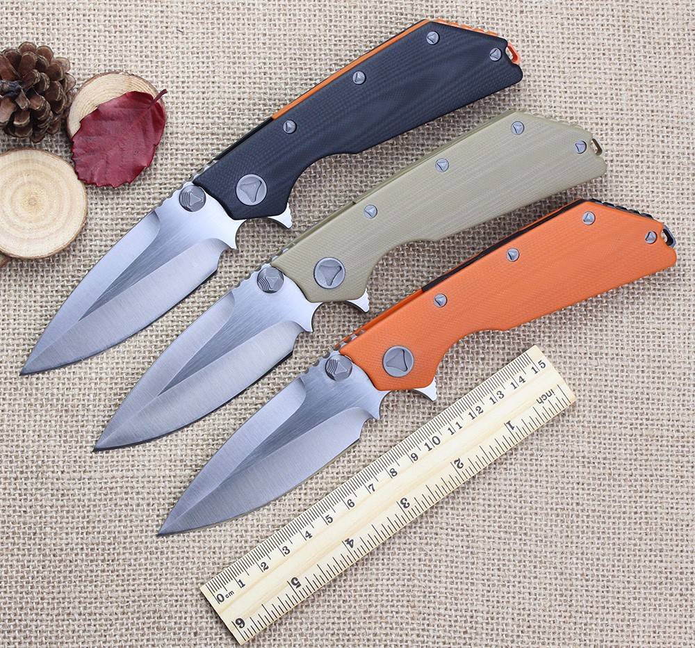 Buy High-end DOC Folding Knife D2 Blade G10 Handle Combat Tactical Survival Knives Utility Outdoor Camping Rescue EDC Tools cheap